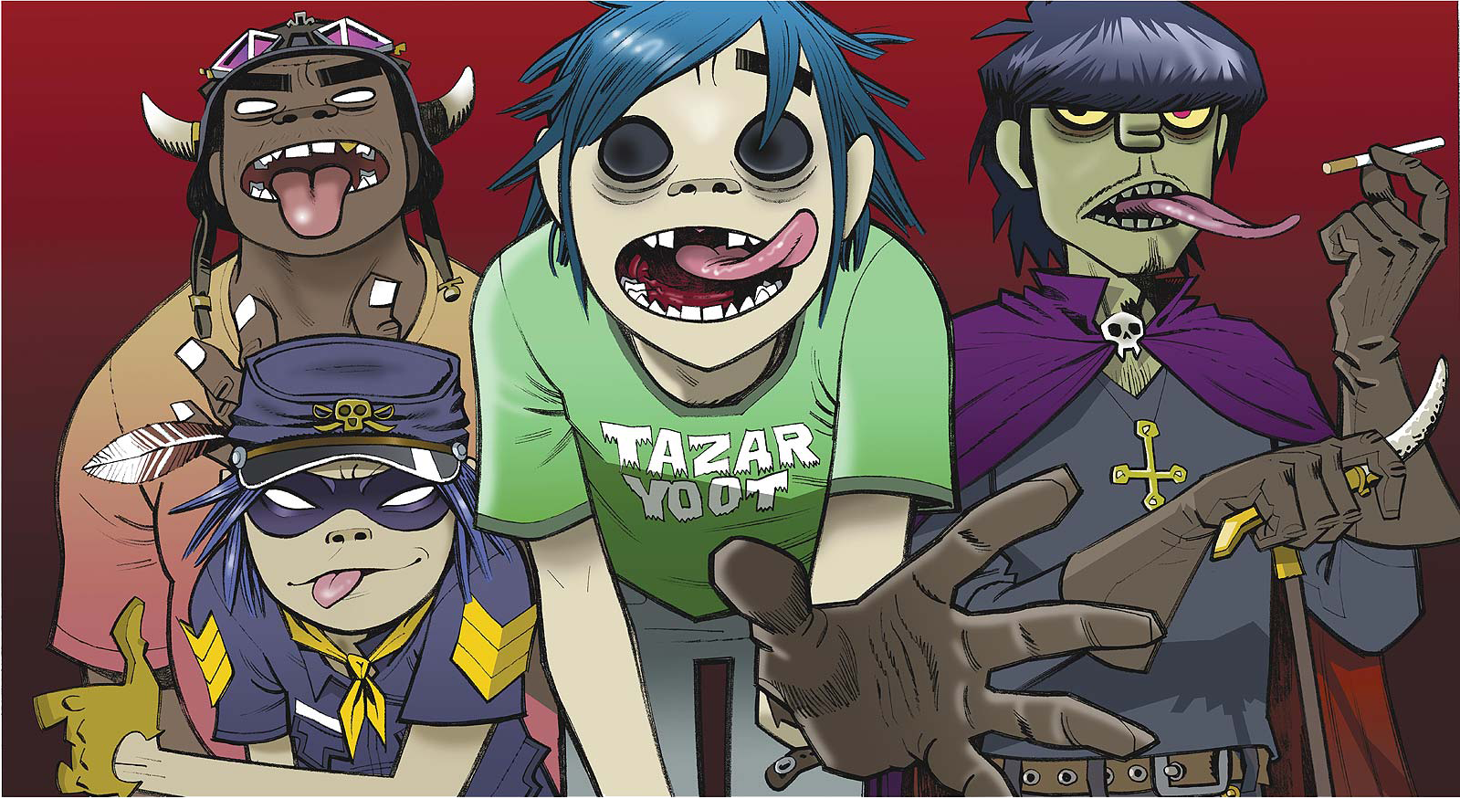 Gorillaz Join Gary Whitta for a Live Performance and Interview on 'Animal Talking'
