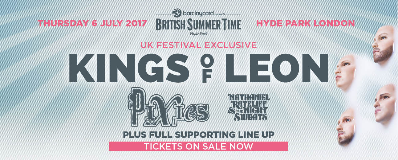 Kings Of Leon to Headline British Summer Time Festival; Pixies Also on the Bill