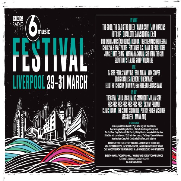 BBC Radio 6 Music Festival pooster