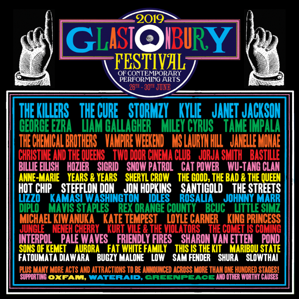 Glastonbury 2019 Line-Up poster
