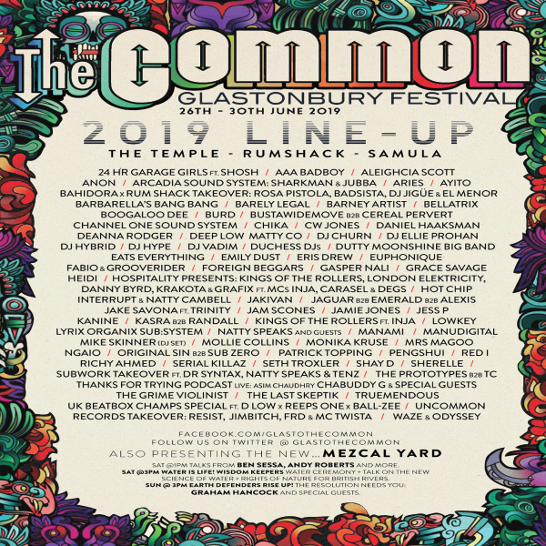 Glastonbury The common Stage poster