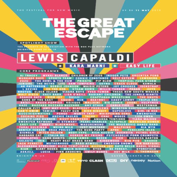 The Great Escape Festival Line-Up Poster