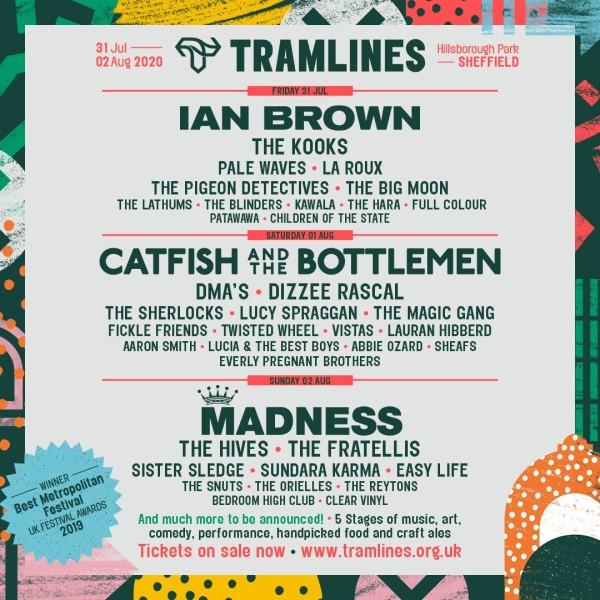 Tramlines 2020 line up Poster