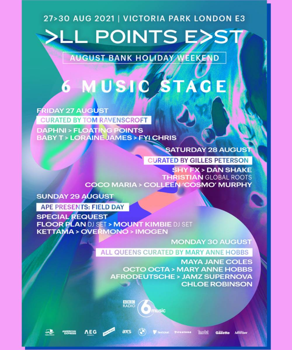 BBC 6 Announces 6 Music Stage at All Points East Festival 2021